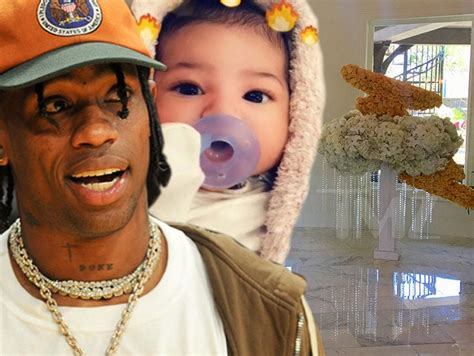 Travis Scott Spends $7k on Flowers for 'Welcome Stormi