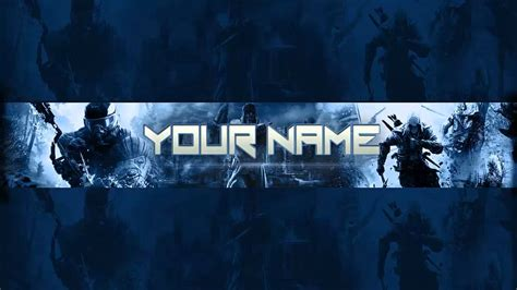 Photoshop Gaming Banner/Channel Art Template (