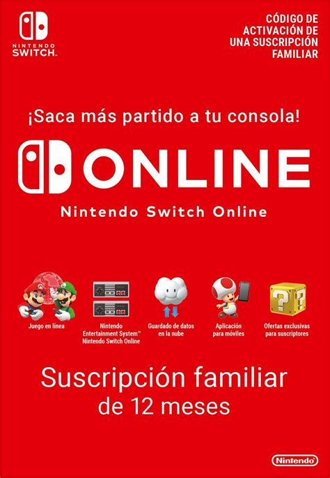 Nintendo Switch Online family subscription 12 months