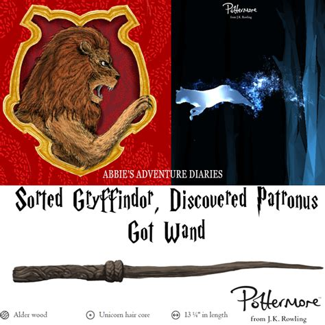 Abbie's Adventure Diaries: Pottermore: Sorted Gryffindor