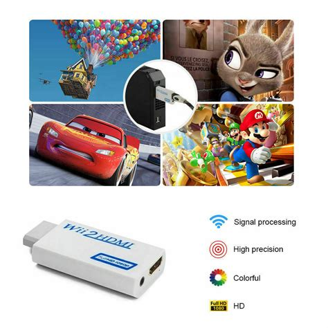 Wii to HDMI Wii2HDMI Full HD FHD 1080P Converter Adapter 3