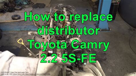 How to replace distributor Toyota Camry 2