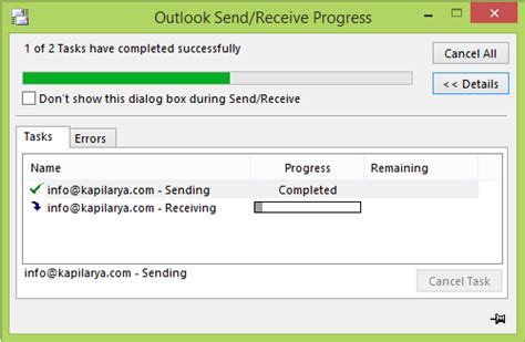 Outlook Email stuck in Outbox until you manually send it