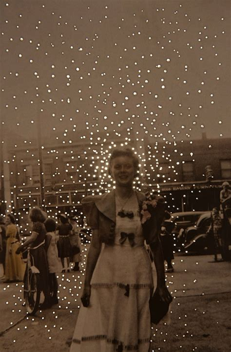 Vintage Photographs with Small Dots of Light Give Off An