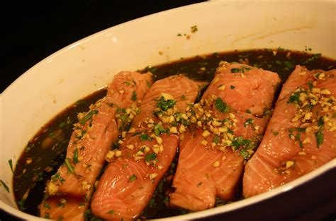 Soy and ginger marinated salmon – silver spoons & plastic