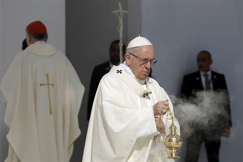 Pope Francis publicly acknowledges priests and bishops