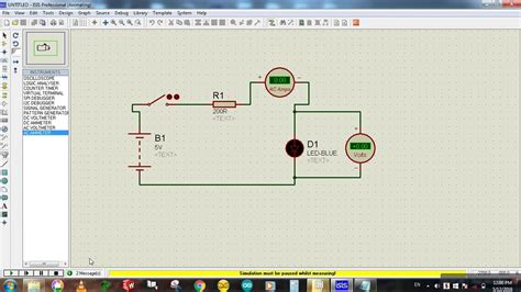 How to connect Voltmeter & Ammeter in a circuit? - Proteus