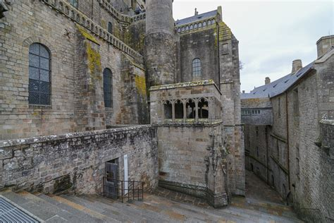 Façade of the Abbey - Mont St Michel | Started during the
