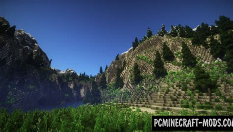 Norwegian Fjord Map For Minecraft 1