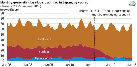 Japan's fossil-fueled generation remains high because of