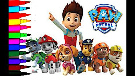 Disney Paw Patrol Coloring Book Pages Chase Ryder Marshall