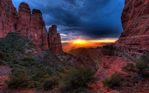 Sedona Arizona United States Sunset From Cathedral Butte