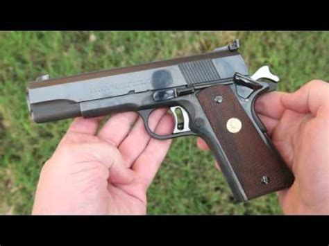 4K Shooting: Colt National Match 45 - pre-70s Series 1911
