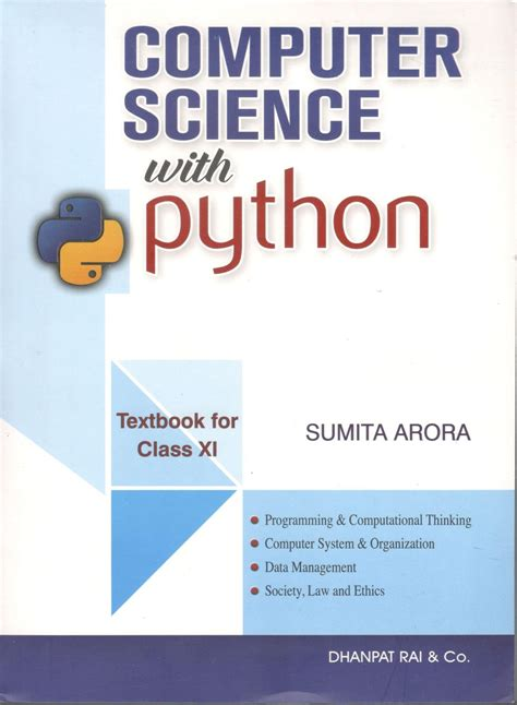 Buy Dhanpat Rai Computer Science With Python for Class 11