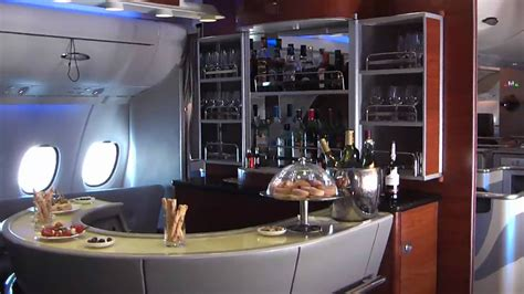 On board Emirates Airbus A380 in flight - YouTube