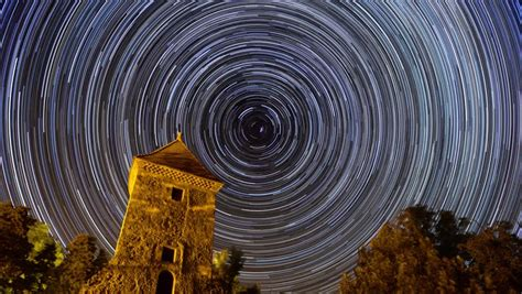 Long Stars Trails Time Lapse Stock Footage Video (100%